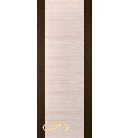 фото: Дверь Кристалл-1, шпон венге/белёный дуб