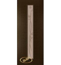 фото: Дверь Кристалл-1, шпон венге, багет венге, стекло матовое бронза рис.Кристалл