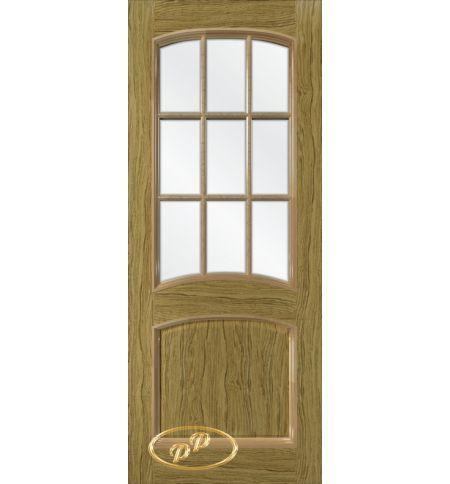фото: Дверь Бали, шпон натуральный дуб бесцвет.лак патина, стекло сатинат