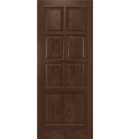 фото: Дверь Прага, шпон натуральный дуб тон миндаль