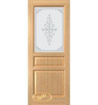 фото: Дверь Орион, шпон дуб, стекло матовое рис.Орион