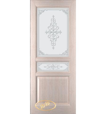 фото: Дверь Орион, шпон беленый дуб, стекло матовое рис.Орион