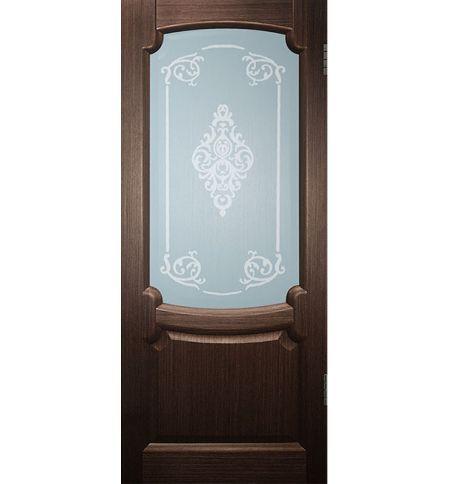 фото: Дверь Марсель, шпон венге, стекло матовое рис.Винтаж