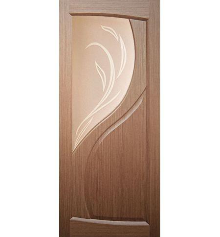 фото: Дверь Лиана, шпон орех, стекло матовое бронза рис.Лиана