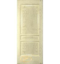фото: Дверь Кантри, шпон натуральный дуб тон слоновая кость