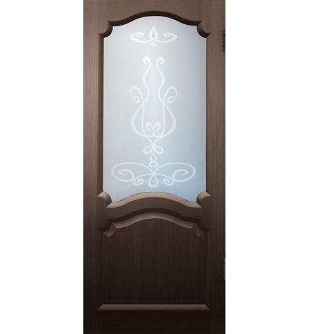 фото: Дверь Диана, шпон венге, стекло матовое рис.Елена