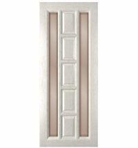 фото: Дверь Вега, шпон НАТУР.ДУБ тон капучино, стекло сатинат бронза