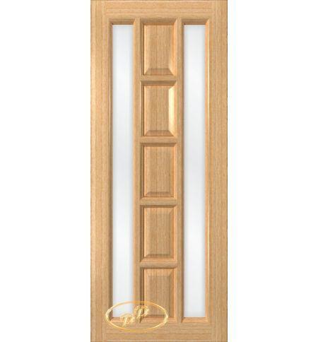 фото: Дверь Вега, шпон дуб, стекло сатинат