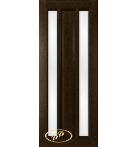 фото: Дверь Вега-1, шпон венге, стекло сатинат