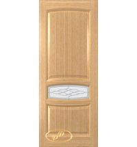 фото: Дверь Белла, шпон дуб, стекло матовое рис.Белла