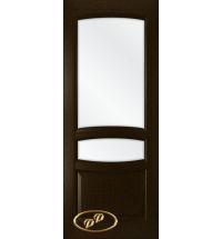 фото: Дверь Белла, шпон венге, стекло сатинат