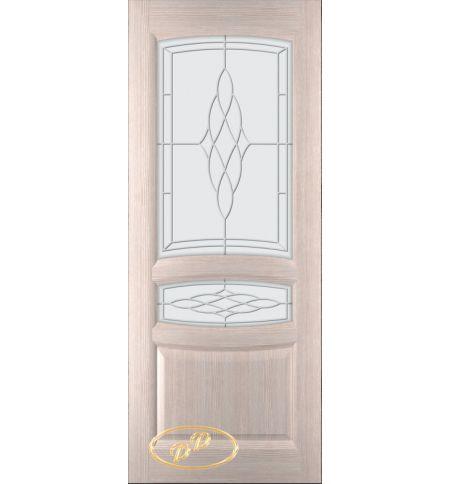 фото: Дверь Белла, шпон белёный дуб, стекло матовое рис.Белла