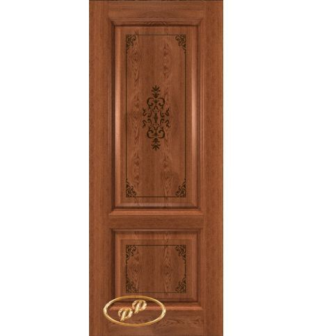 фото: Дверь Триумф, шпон натуральный дуб тон коньяк