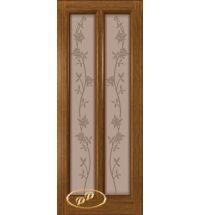 фото: Дверь Селена, шпон орех, стекло матовое бронза рис.Цветы