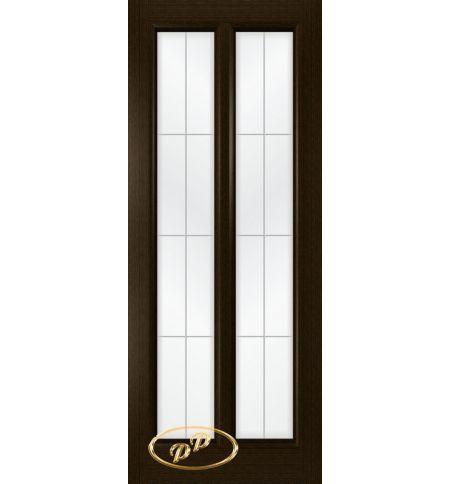 фото: Дверь Селена, шпон венге стекло сатинат рис.1, гравировка