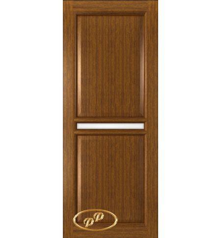 фото: Дверь Ронда, шпон орех, стекло сатинат