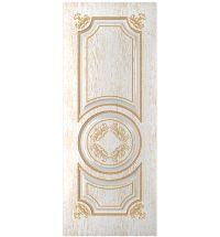 фото: Дверь Омега, шпон натуральный дуб тон ясень белый/золото