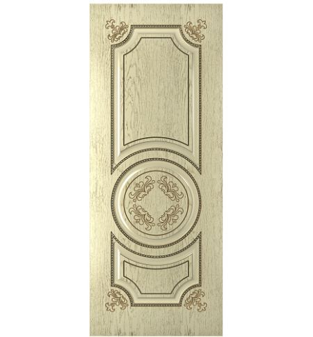 фото: Дверь Омега, шпон натуральный дуб тон слоновая кость