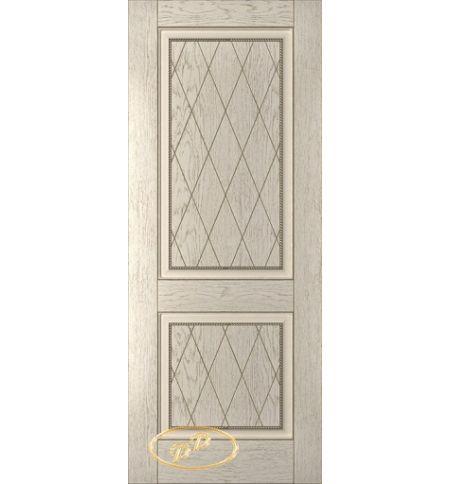фото: Дверь Люкс, шпон натуральный дуб тон латте