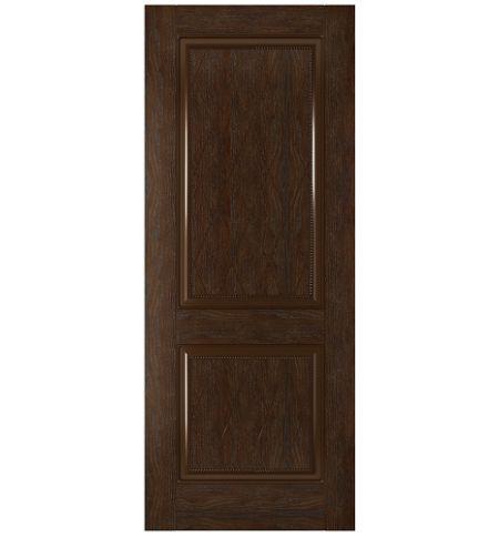 фото: Дверь Люкс, шпон натуральный дуб тон каштан