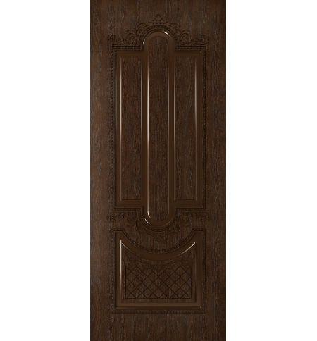 фото: Дверь Джаз, шпон натуральный дуб тон каштан