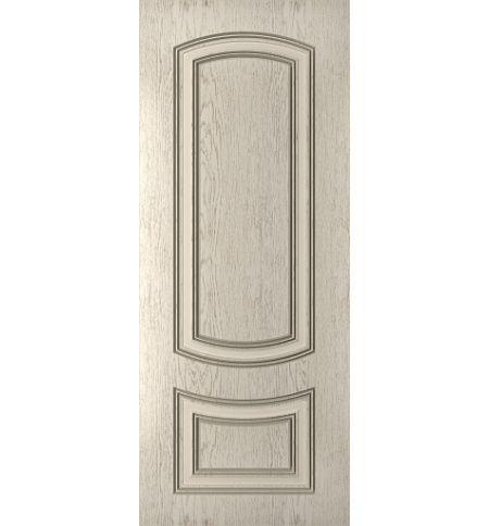 фото: Дверь Бергамо, шпон натуральный дуб тон латте