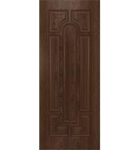 фото: Дверь Атриум, шпон натуральный дуб тон миндаль