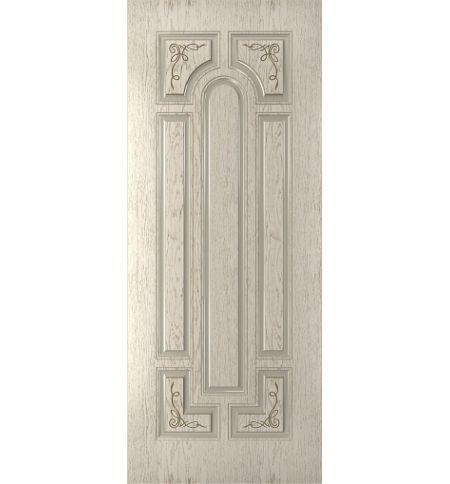 фото: Дверь Атриум, шпон натуральный дуб тон капучино