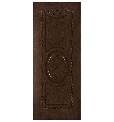 фото: Дверь Цезарь, шпон натуральный дуб тон каштан