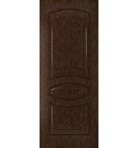 фото: Дверь Танго, шпон натуральный дуб тон каштан