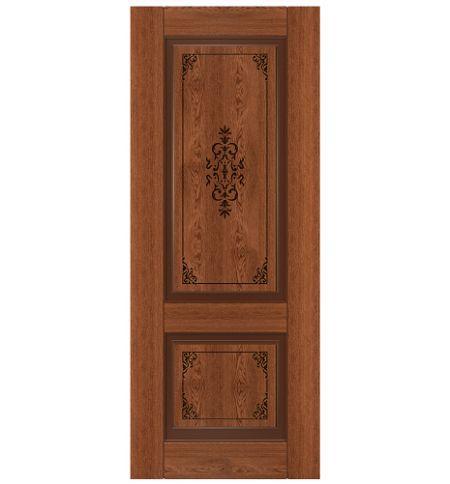 фото: Дверь Стародуб, шпон натуральный дуб тон коньяк
