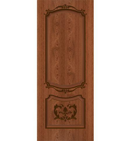 фото: Дверь Сакура, шпон натуральный дуб тон коньяк