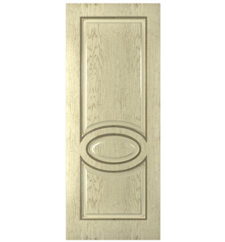 фото: Дверь Престиж, шпон натуральный дуб тон слоновая кость