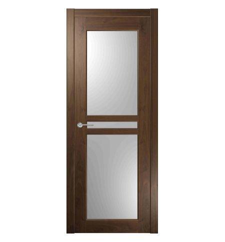 фото: Дверь Вега 2 Каштан стекло