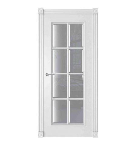 фото: Дверь Амелия 1 Белый стекло