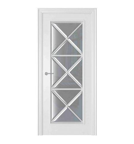 фото: Дверь Амелия 3 Белый стекло