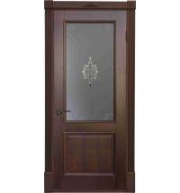 фото: Дверь Бордо Средний Орех стекло