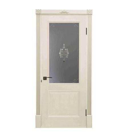 фото: Дверь Бордо Слоновая Кость стекло