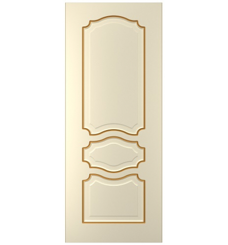 фото: Дверь Жасмин-3, тон Крем патина золото (акрил)