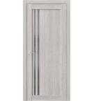 Дверь ПО QX10 Дуб серый стекло графит из Экошпон