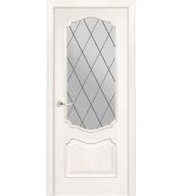фото: Дверь ПО Тампа ясень бланко, стекло Ромб из Шпон