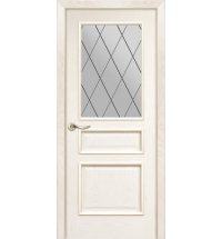 фото: Дверь ПО Пронто ясень карамель, стекло Ромб из Шпон