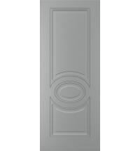 фото: Дверь Адель, тон Серый, стекло сатинат матовое с рис.Ваза наплыв прозрачный